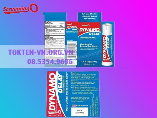 Dynamo Delay hiện đang được bán tại các nhà thuốc trên toàn quốc