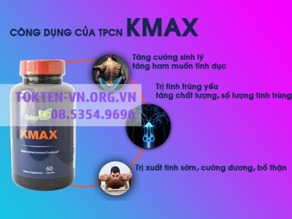 Kmax hiện đang được bán tại các nhà thuốc trên toàn quốc
