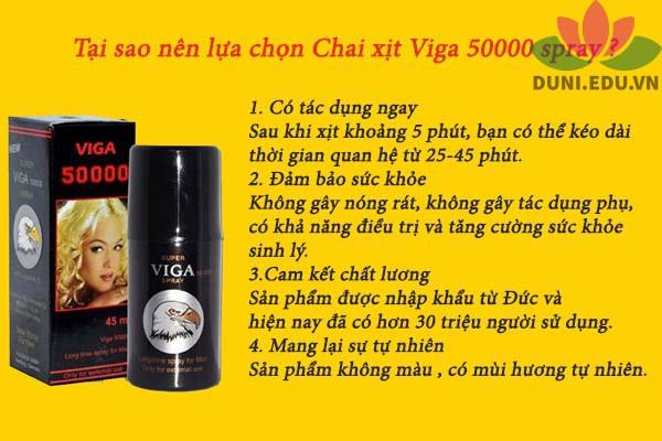 Chai xịt Viga 50000 spray có tốt không?