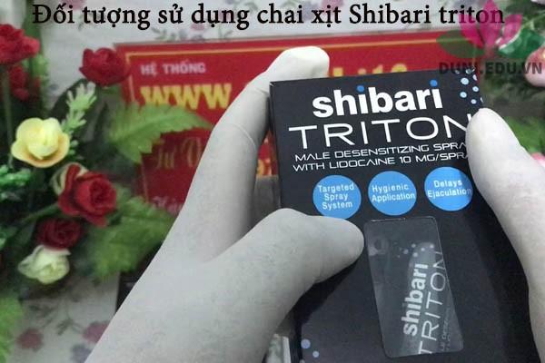 Đối tượng sử dụng chai xịt Shibari Triton