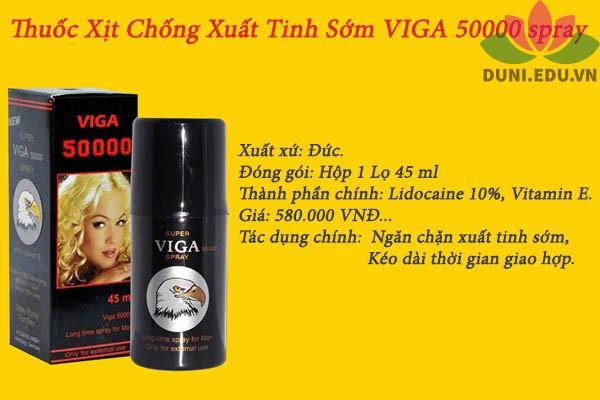 Tác dụng của chai xịt Viga 50000 spray