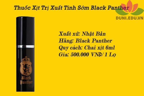Thuốc xịt Black panther giá bao nhiêu?