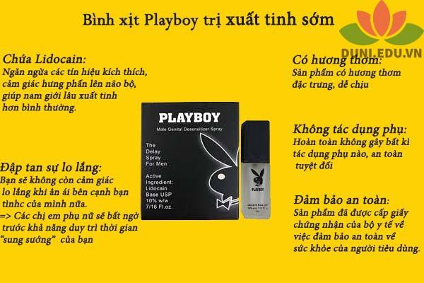 Thuốc xịt Playboy có tác dụng gì?