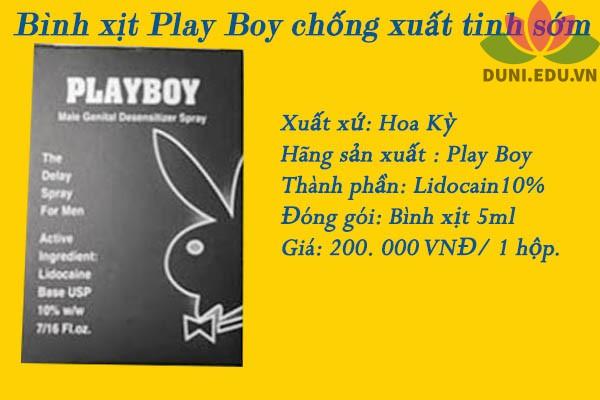 Thuốc xịt Playboy giá bao nhiêu?